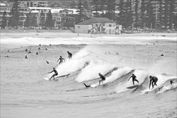 Surfing Black and White Photos
