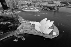 Sydney From Above Black and White Photos